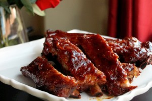 SLOW COOKED HONEY MUSTARD RIBS